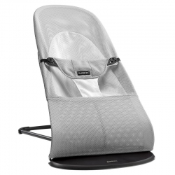 BABYBJÖRN gultukas Balance Soft Soft silver/white, mesh 005029