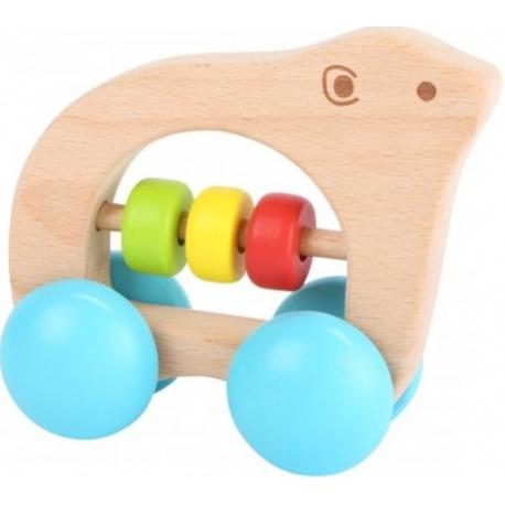 Medinis žaisliukas su ratukais