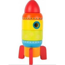 Medinė dėlionė Raketa