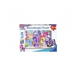 Ravensburger dėlionė Ponys 2x24vnt