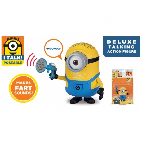 DESPICABLE ME kalbanti figūrėlė Deluxe Talking
