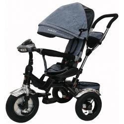 Triratukas vaikams Aga Design Air Trike pripučiamais ratais, mėlynas