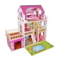 Medinis lėlių namas su LED apšvietimu 22576